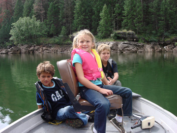 Camping trip to kids on boat