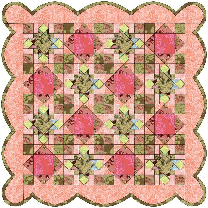 Girly Scrap with Scalloped Borders