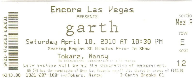 Garth Brooks Ticket