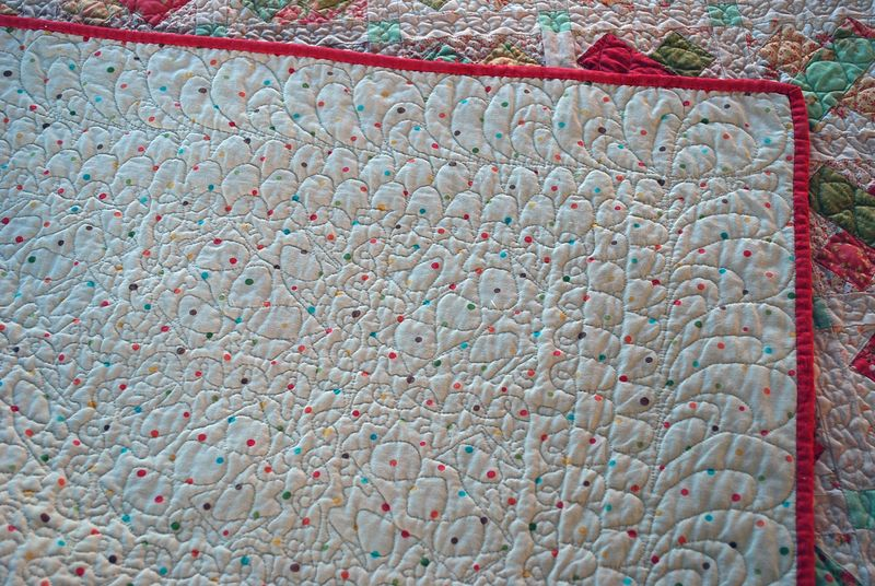 Fresh Figs Quilt back