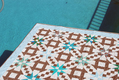 Quilt-by-the-pool