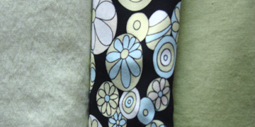 Green fabric sample set