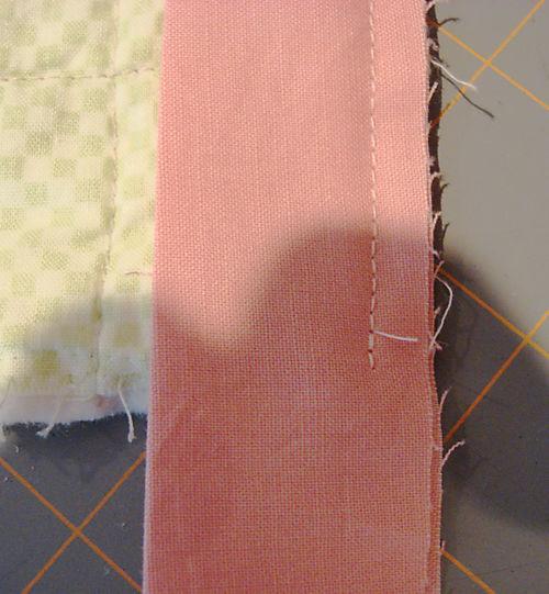 Binding a quilt step 2