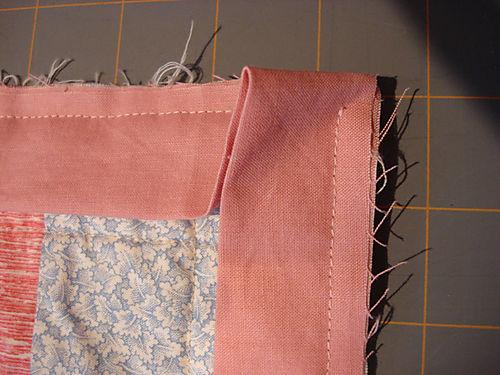 Binding a quilt step 5